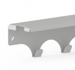 Tablette Porte-Manteaux 15X76 cm