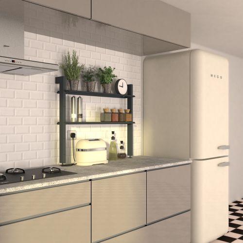 AELIG Petite étagère meuble cuisine