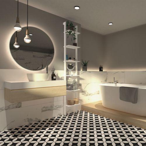 LIZIG Colonne blanche salle de bain