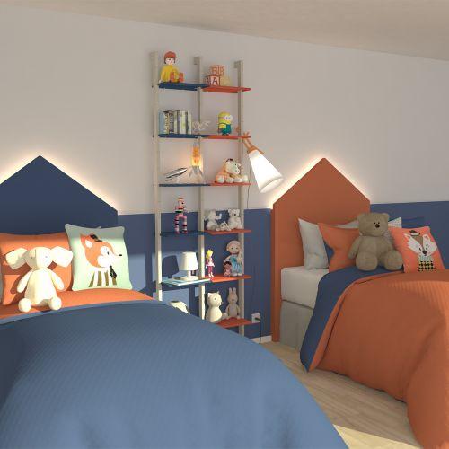 KRISTEN étagère bicolore chambre enfants