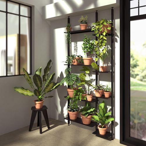 AZENOR étagère double, plantes d'intérieur