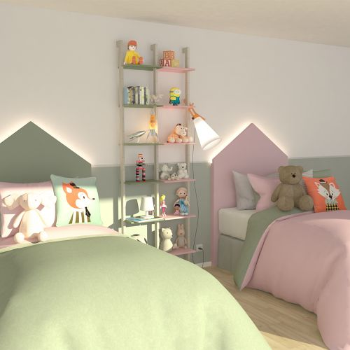 KRISTEN étagère bicolore chambre d'enfants