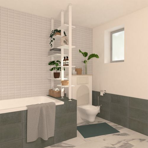 MELENA Séparation baignoire WC